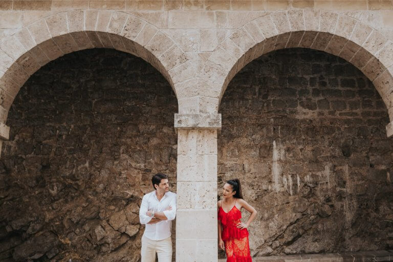Creative pre wedding at Dalt Vila