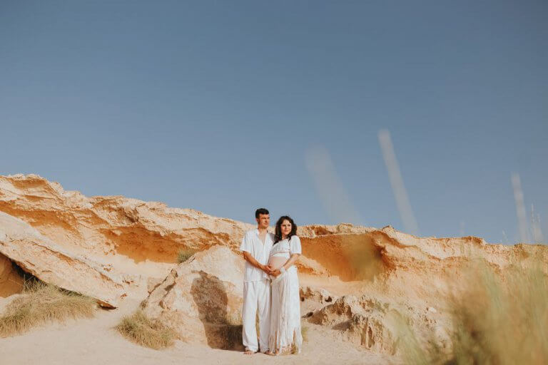 Pre wedding session on the beach of Cala Compte