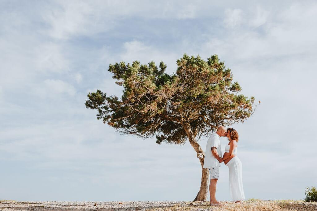 Sesión de preboda embarazada en la playa
