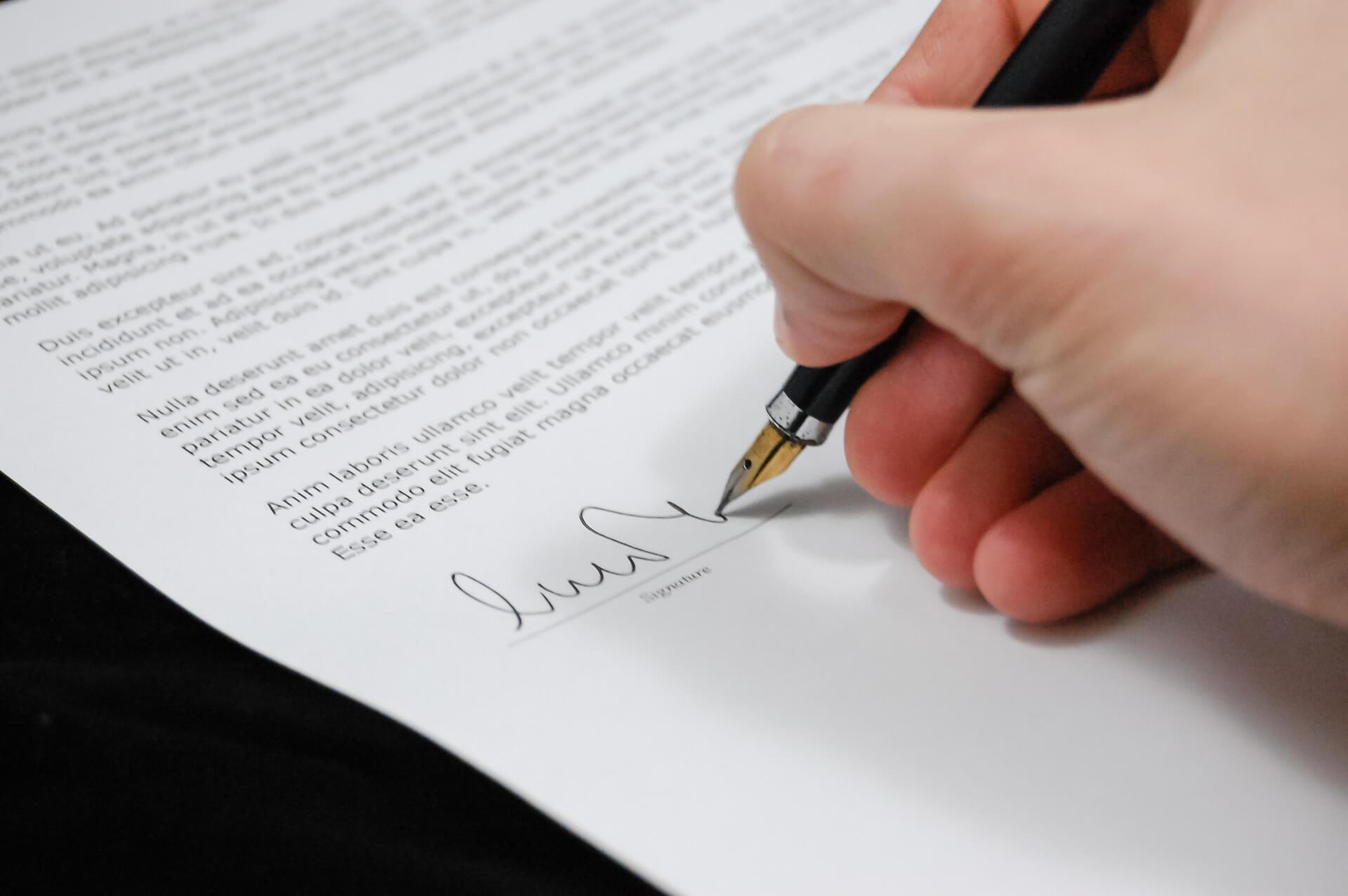 Contrato para reportaje de boda